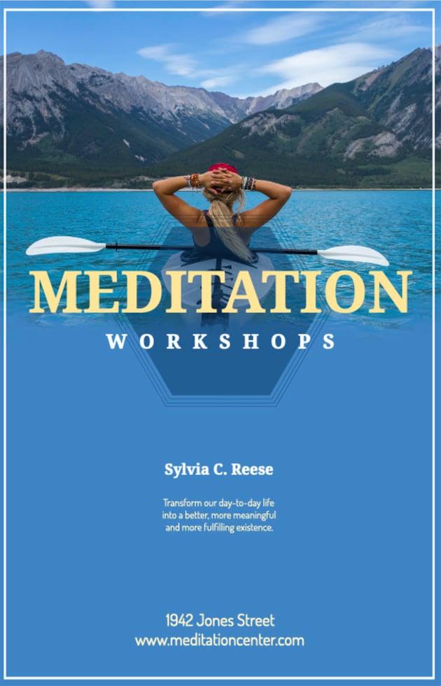 Online Flyer Maker for Meditation Classes