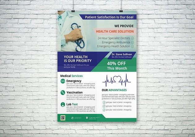Medical Flyer Design With Free Mockup