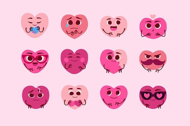 Clip Art Heart Moods