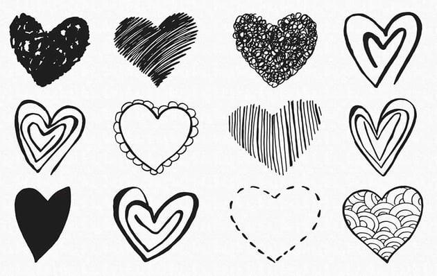 15 Handmade Clip Art Hearts