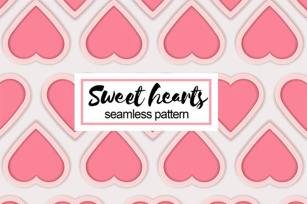 Sweet Hearts Seamless Pattern
