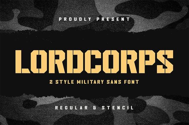 Military Font