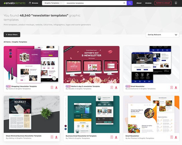 Newsletter Templates from Envato Elements