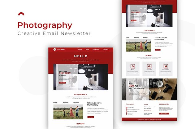 Photography Newsletter Template