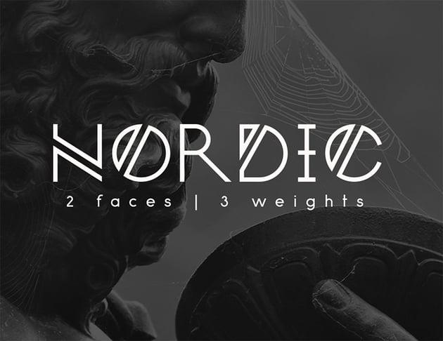 Nordic - Free Monogram Font