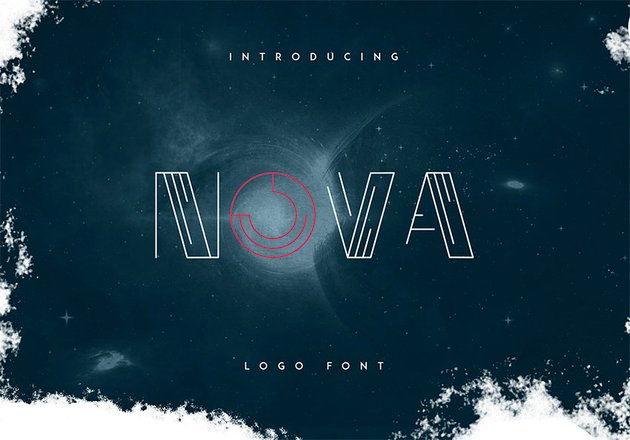 Nova Free Monogram Fonts