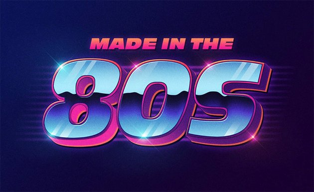 FREE 80S TEXT EFFECT