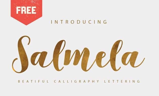 SALMELA - vintage cursive font