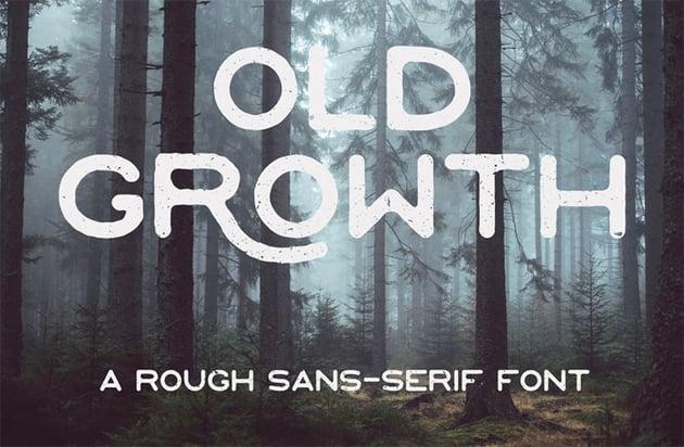 Old Growth vintage font