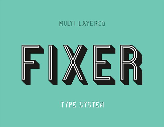 Fixer vintage lettering font