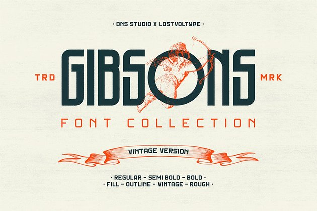 Gibsons Vintage Font