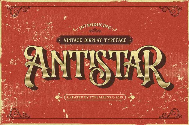 Antistar Vintage Font Style