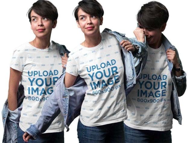 Young Woman Sublimated T-Shirt Mockup