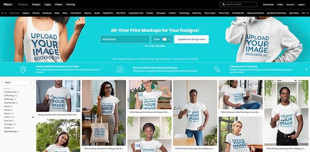 Go to Placeitnet Mockups Sublimated