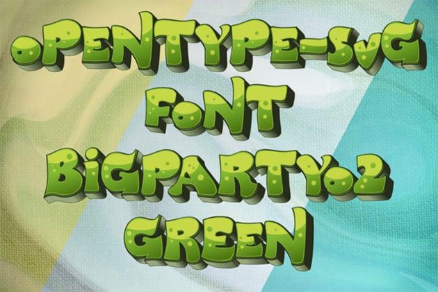 BigPartyO2-Green Font