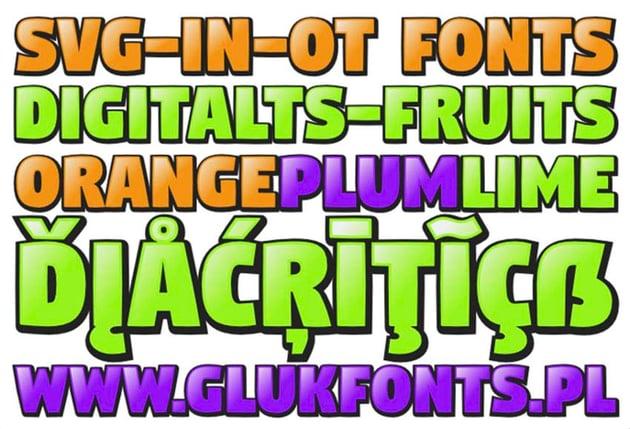 DigitaltS-Fruits Font