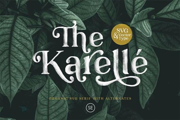 BKarelle SVG - An Organic Serif