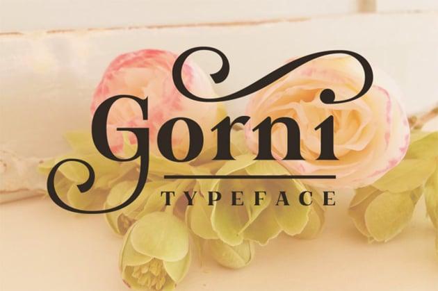 Free Tattoo Font - Gorni