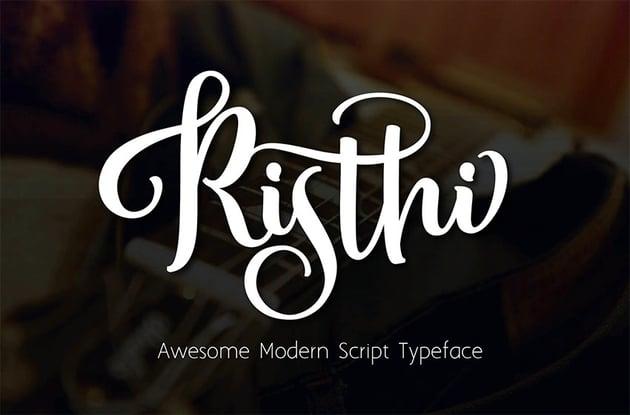 Risti Tatoo Scrpit Font