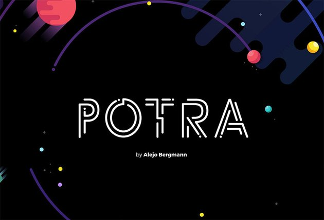 Potra - Free Tattoo Fonts