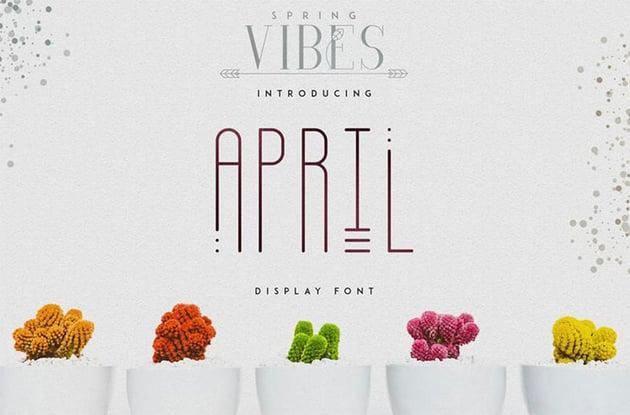 Free Tattoo Font Spring Vibes April