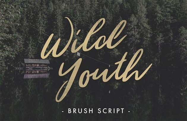 WILD YOUTH - Tattoo Ink Font