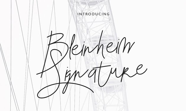 BLENHEIM - Free Signature Font