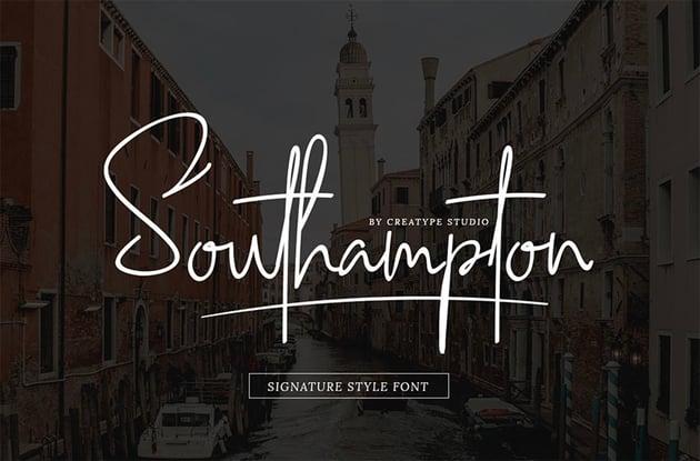 Southhampton Signature Script Font