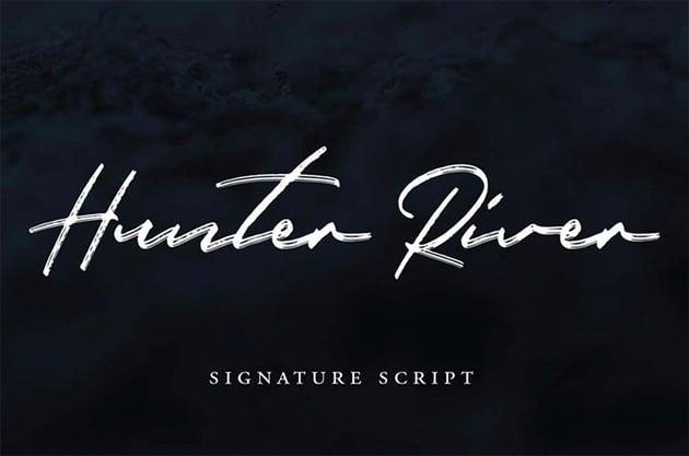 Hunter River - Free Signature Fonts
