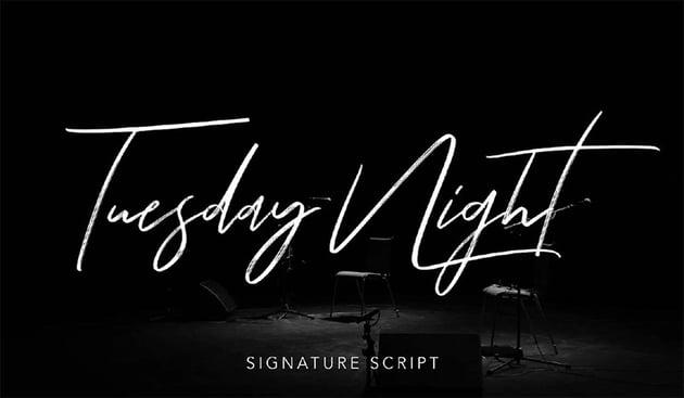 Tuesday Night - Free Signature Fonts