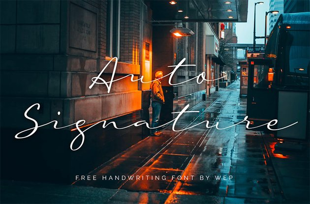 Auto Signature - Free Cursive Signature Font