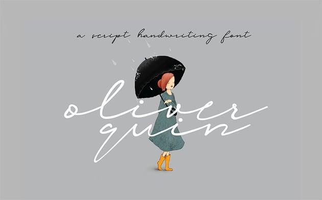 OLIVER QUIN - Signature Script Font Free Download
