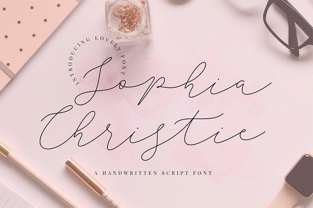 Sophia Christie - Fancy Signature Font Download