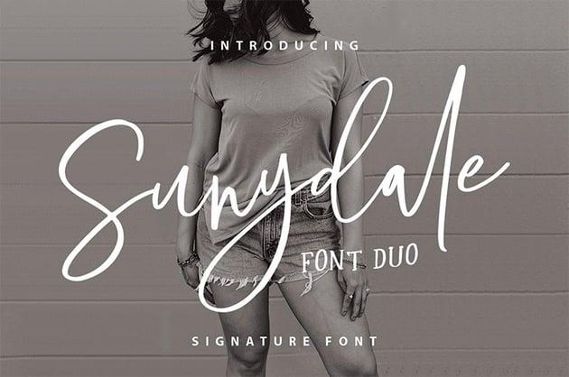 Sundale Font Duo - Signature Script Font Free Download