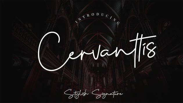 CERVANTTIS - Free Signature Font