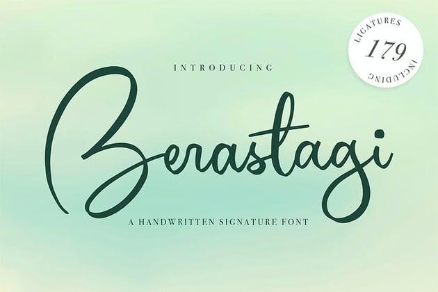 Berastagi  Signature Style Font