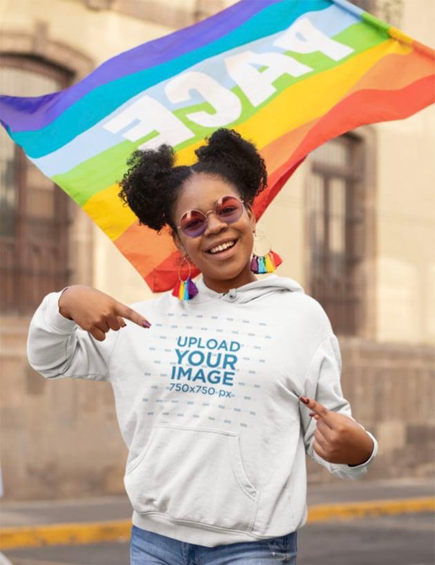Mockup Hoodie for LGBTQIA Pride Parade