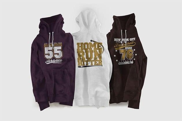 Color Hoodie Sweatshirt Mockup