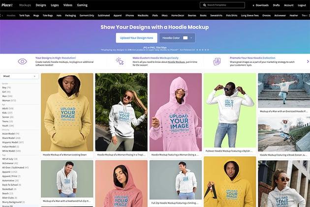 Premium Hoodie Design Templates at Placeit