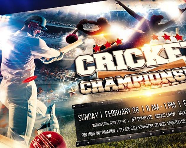 Cricket Sports Flyer Templates