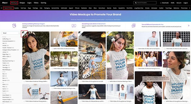 How to Find Free T-Shirt Video Mockups on Placeit