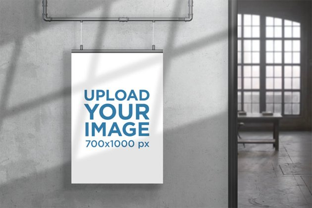 Print Mockup Featuring an Apartment with an Industrial-Style Decoration