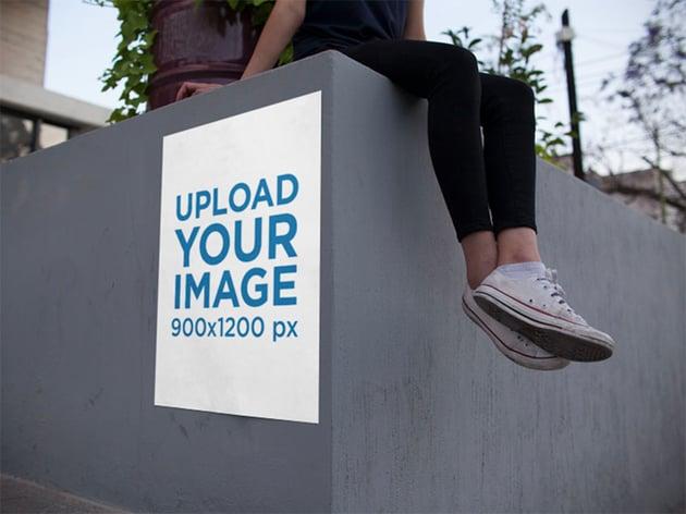 Concrete Wall Poster Mockup
