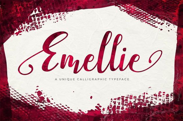 Emellie Script Font