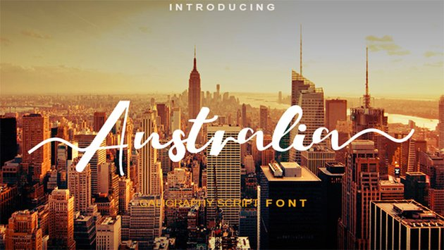 Australia Free Calligraphy Letters Download