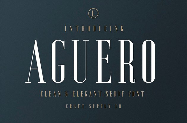 Aguero Serif - Clean  Elegant Font