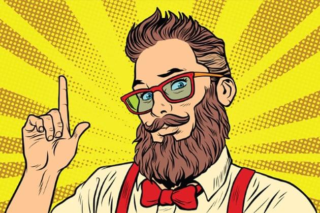 Hipster Pop Art Portrait Illustration