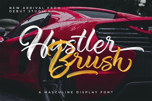 Hustler Brush Script Font with Tail