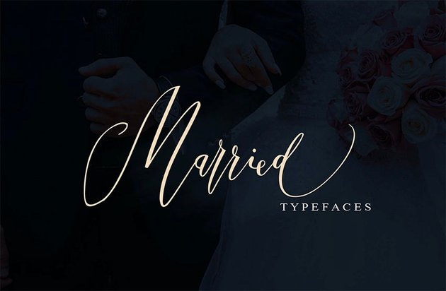Married Cursive Font with Tails