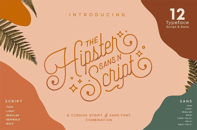 Hipster Style Script Font with Swashes
